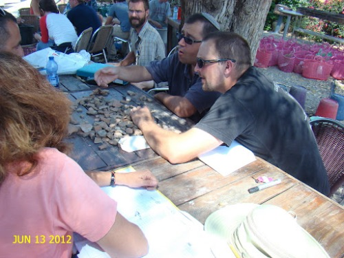 2012 Itzick and Chris at Pottery Readng