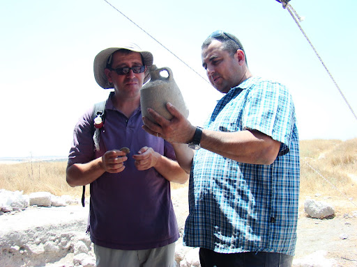 2012 Itzik and Amit admiring the decanter