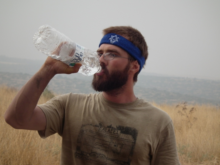 2012 Ian replenishing his fluids