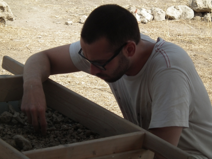 2012 Jacob sifting in area B