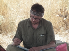 2012 Casey doing some paperwork in Area B