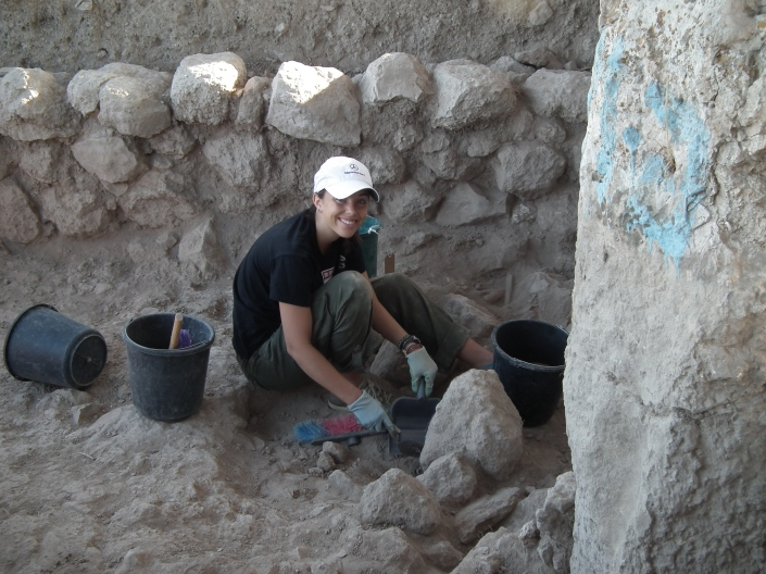 KJ digging next to an 8th cent. BCE wall