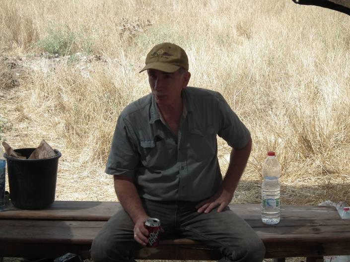 Kevin taking a break and a drink from a Waco Import :)