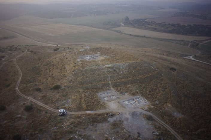 General view of excavation areas from west