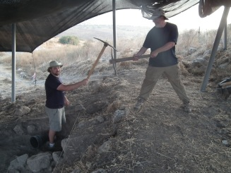 Not exactly Hezekia's tunnel - but still quite an achievement after several years - Matt and Chris were happy to join the two areas (B1 and B2)